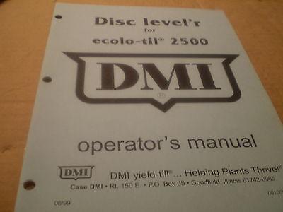 Case Ih Disk Levelr Ecolo Til 2500 Operators Manual