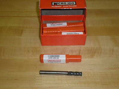 Micro 100 Carbide 4 Flute End Mill Pn Gem-250-4x