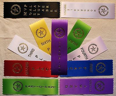 LOT OF 100  1st, 2nd, 3rd, 4th, Place Award Ribbons Your choice](1st Place Ribbon)