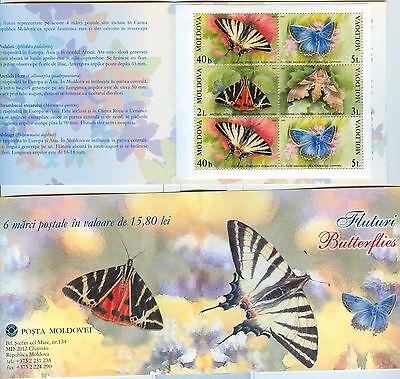 FARFALLE - BUTTERFLIES MOLDOVA 2003 booklet