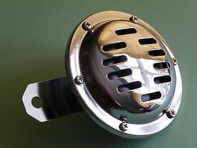 MOTORCYCLE HORN CLASSIC CHROME 6 VOLT 6V 100MM BSA TRIUMPH AJS NORTON