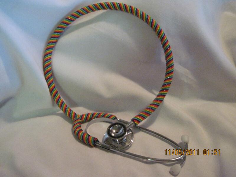 Hand Beaded Stethoscope...single tube...Nurse style...Ultra Sens...Dual Head
