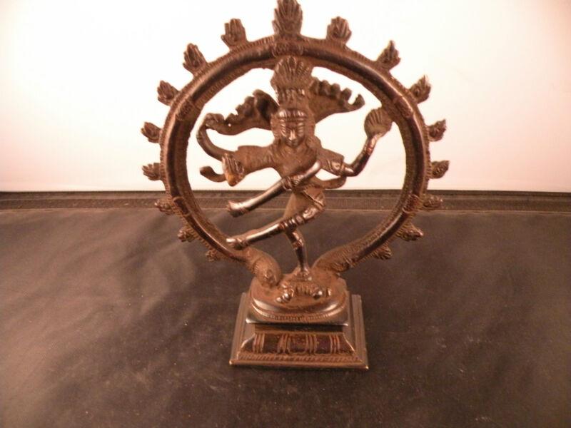 Old bronze, metal sculpture, statue, of Nataraja, Buddhism, Buddha, India