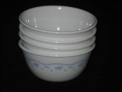 4 New Corelle Morning Blue Rice Bowl 12-oz