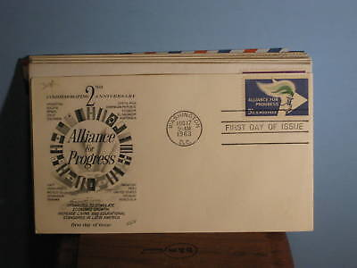 Us Stamps Fdc  1234 Alliance For Progress 5C 1963
