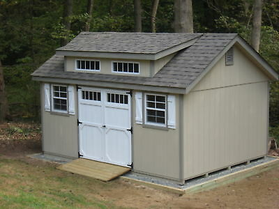 AMISH BUILT 10x16 A-FRAME GARDEN WOOD STORAGE SHED WITH DORMER PACKAGE