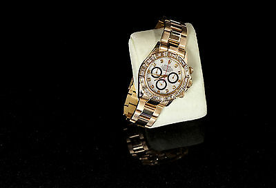 ROLEX DAYTONA PAUL NEWMAN CUSTOM WATCH 5CT BAGET BEZEL CUSTOM