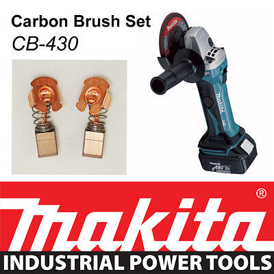 - NEW Makita 18V LXT Angle Grinder BGA452 BGA452Z Genuine CARBON BRUSH SET CB-430