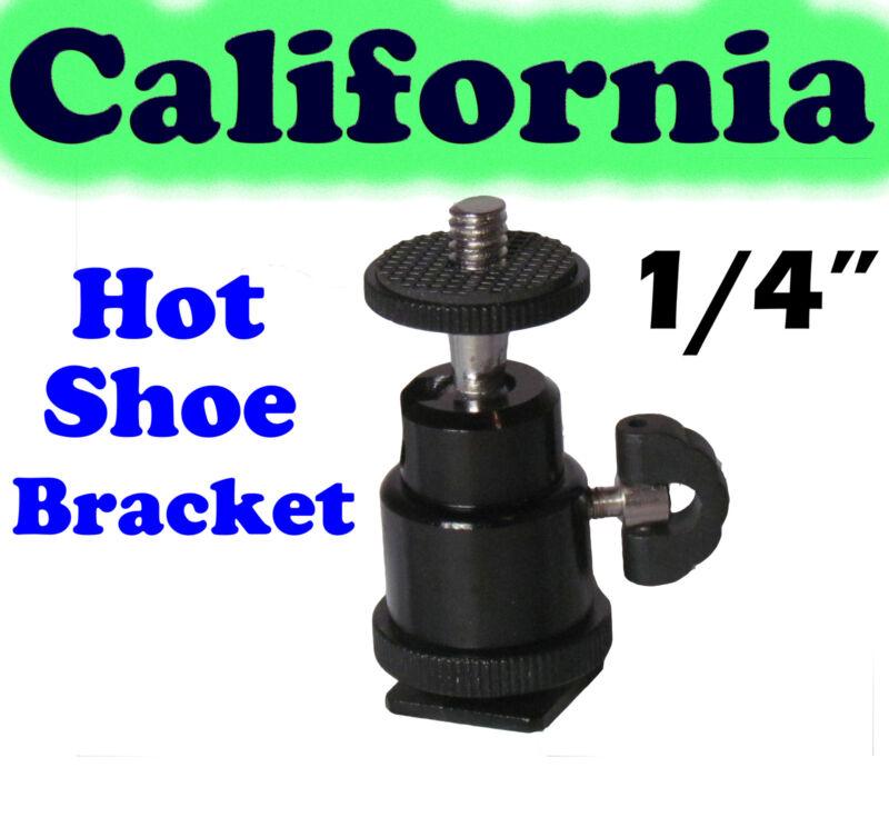 "1/4"" Hot shoe mount adapter adjustable angle pole for Flash, LED light, Camera"