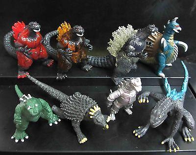 lot of 8 Godzilla Monsters  Figure set Mecha Fire Godzilla Gigan