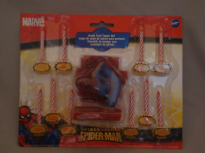 SPIDER-MAN BIRTHDAY CAKE TOPPER  & CANDLE SET WILTON - Spiderman Cake Toppers