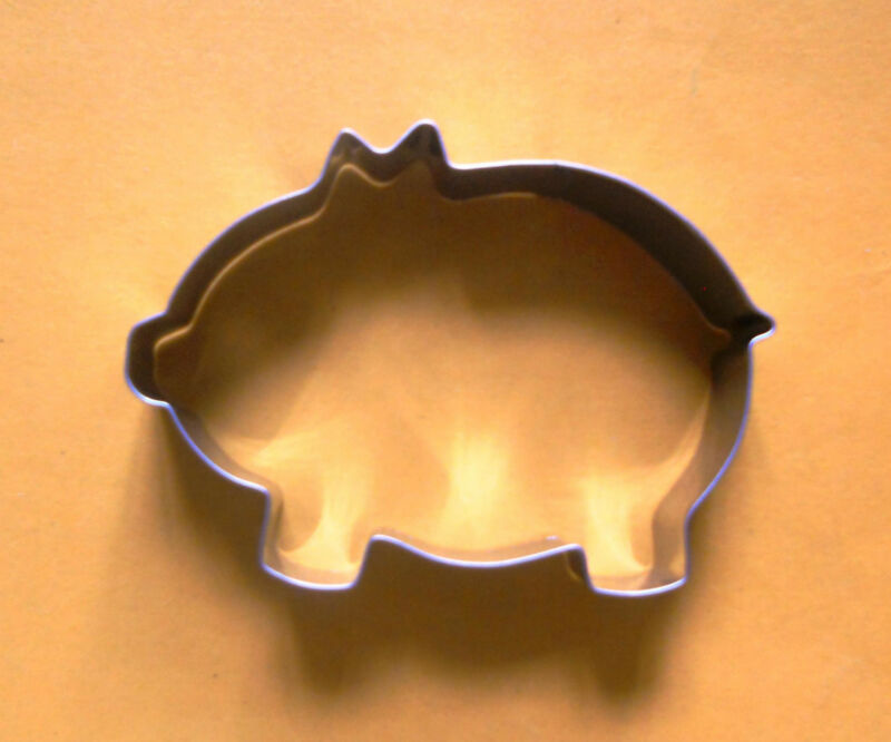 "4"" Pig animal baking party biscuit pastry metal cookie cutter mold"