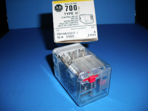 A-B ALLEN BRADLEY QUALITY INDUSTRIAL CONTROLS RELAY 700 TYPE H