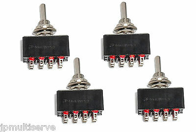 Lot Of 4 Onon 4pdt Miniature Toggle Switch Four Pole Double Throw