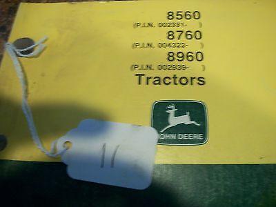 John Deere Tractor Operators Manual 8560 8760 8960 Omar110222 Issue G1