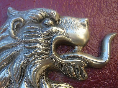 Vintage Metal Mythological Winged Rampant Lion Armorial Crest/Shield