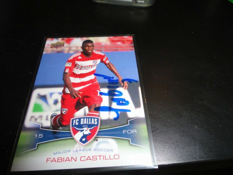 Dallas FC Fabian Castillo  Autographed 2012 Upper Deck MLS Card