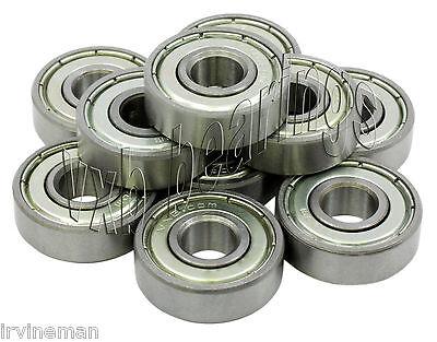 "10 R8 ZZ Ball Bearings 1/2"" half inch Bore/ID R8ZZ .500"