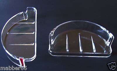 1 NEW RECESSED SOAP DISH / CLEAR PLASTIC TRAY REPLACEMENT  Wall Recess Mount