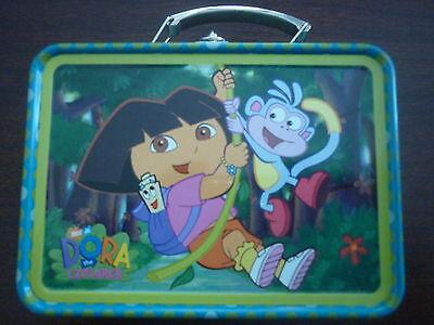 Dora the Explorer Small Storage Tin #1 - Dora & Boots Swinging on Vine - - Dora The Explorer Storage