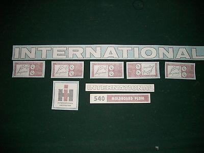 International 540 Plow Vinyl Decalsticker Set