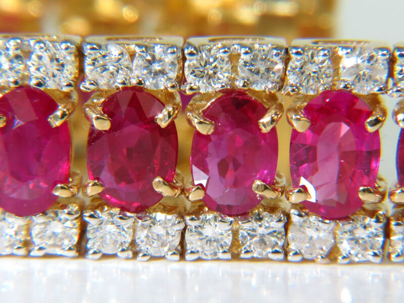 25.13ct Natural Fine Ruby Diamonds Bracelet Classic Multirow+