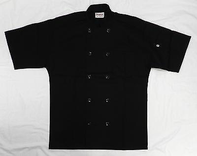 Chef Coat Jacket Uncommon Threads 415 Restaurant Uniform Ss Black M New