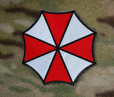 Resident Evil Umbrella Corporation Embroidered Patch Hook Backing