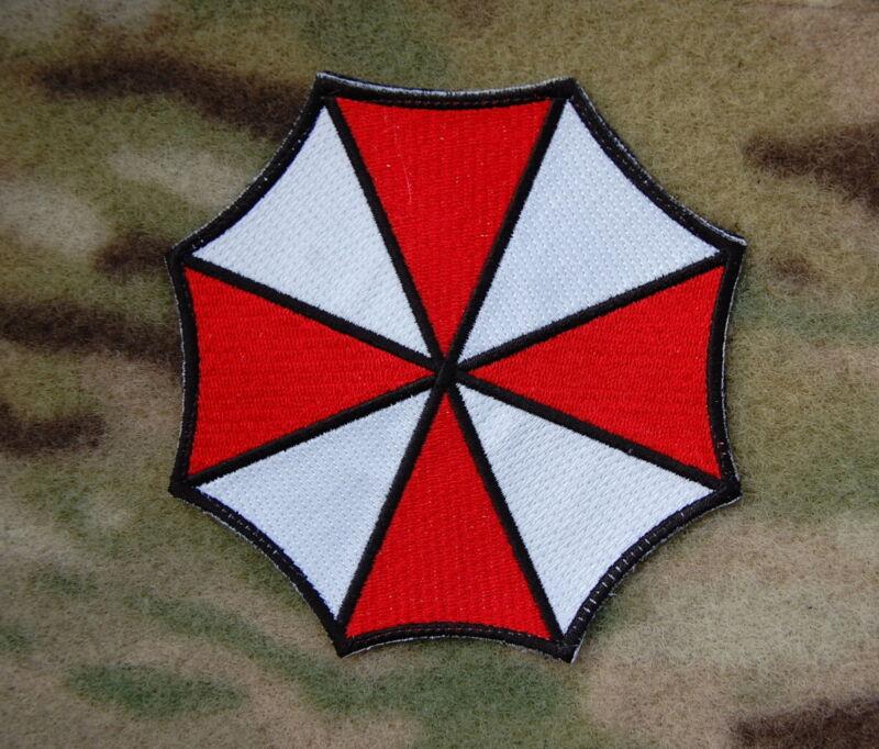 Resident Evil Umbrella Corporation Morale Embroidered Patch Hook Backing