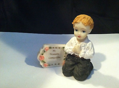 VINTAGE MI PRIMERA COMUNION FIRST COMMUNION #2 BOY FIGURINE GIFT PRESENT](First Communion Present)