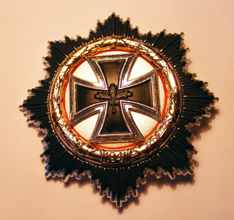 GERMAN MILITARY ORDER , STAR ,  CROSS IN GOLD .