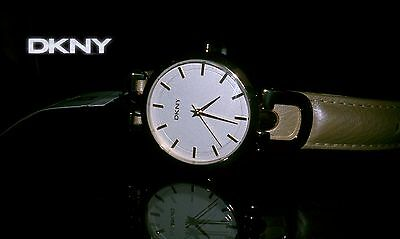 DKNY LADIES COLLECTION LEATHER BAND CHAMPAGNE WATCH NY8347