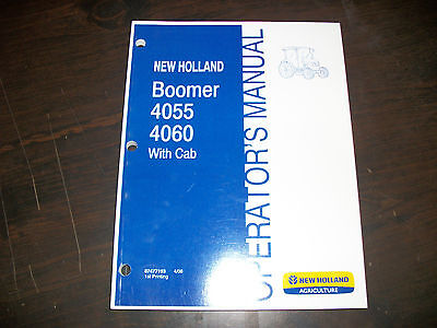 New Holland Boomer 4055 4060 With Cab Tractor Operators Manual