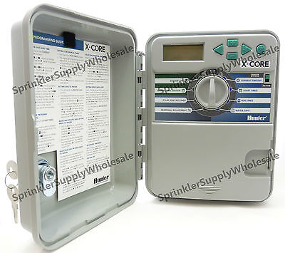 Hunter X-Core Outdoor Controller Timer 4, 6 or 8 Stations 120V Xcore Zone