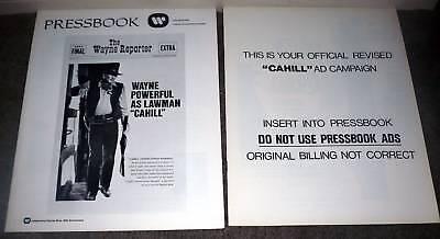 CAHILL UNITED STATES MARSHAL pressbook JOHN WAYNE original 1973