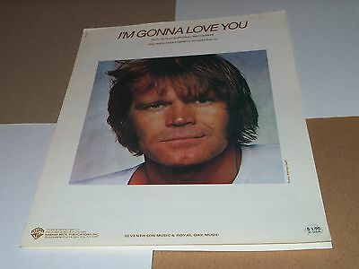 Glen Campbell sheet music I'm Gonna Love You 1979 4 pages (VG shape)