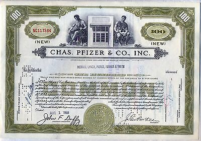 Chas  Pfizer   Co   Inc  Stock Certificate