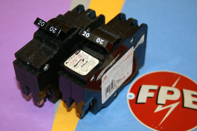 1 FEDERAL PACIFIC / AMERICAN 20 AMP 2-POLE  TYPE NC BREAKER