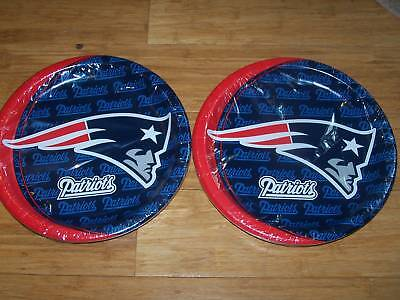 16 Hallmark NEW ENGLAND PATRIOTS Paper Plates Football Superbowl Party Pats NFL