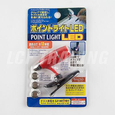 Portable Clip-on Bright White Travel Booklight LED reading Clip-On Lamp Light