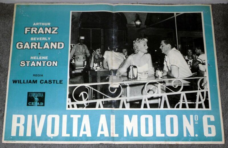 NEW ORLEANS LOUISIANA UNCENSORED Original RARE 1955 Movie Poster CAFE DU MONDE