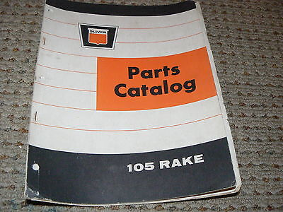 Oliver White Tractor 105 Rake Dealers Parts Book