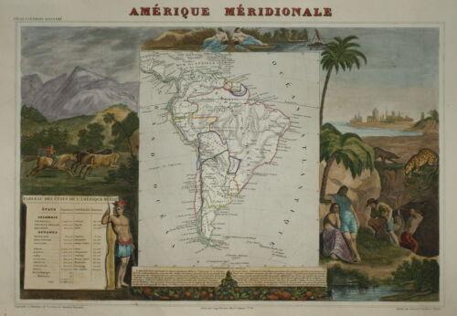 LEVASSEUR - SOUTH AMERICA - AMERIQUE MERIDIONALE 1854.