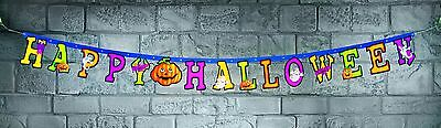 2.1M Happy Halloween Letter Banner Fancy Dress Party Room Decoration NEW P7302