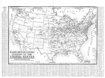 1924 RADIO STATION MAP IA IOWA SAC SCOTT SHELBY SIOUX STORY TAMA TAYLOR UNION xl