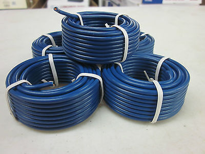100 Blue All Purpose 14 Gauge Electrical Wire 5 Rolls Of 20 Radio Remote Etc