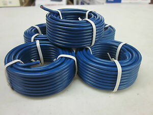 100' BLUE ALL PURPOSE 14 GAUGE ELECTRICAL WIRE 5 ROLLS OF 20' RADIO REMOTE ETC
