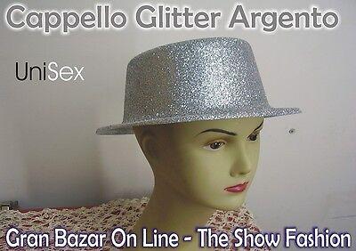 CAPPELLO GLITTER ARGENTO Trendy Dj Shop CAPODANNO DANZA FESTA