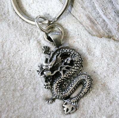 CHINESE DRAGON Pewter KEYCHAIN Key Ring