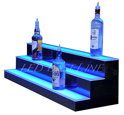 40 Led Lighted Bar Bottle Rack Shelves Remote Color Changing Three Steps
